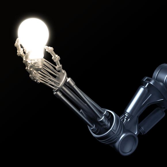 Roboter Glühbirne 580x580