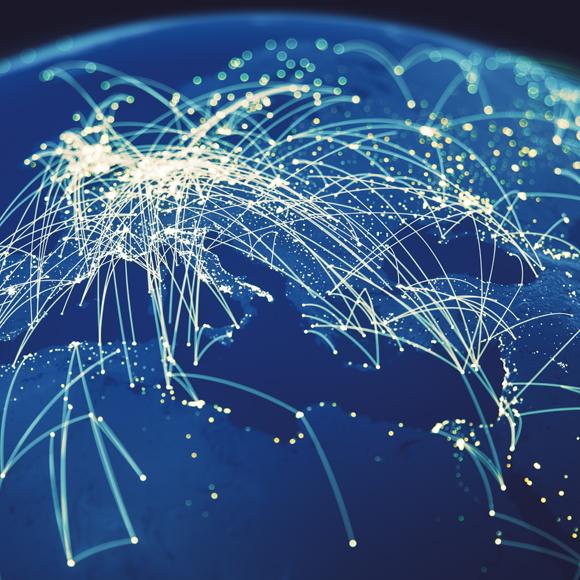 Telecommunication Weltkugel