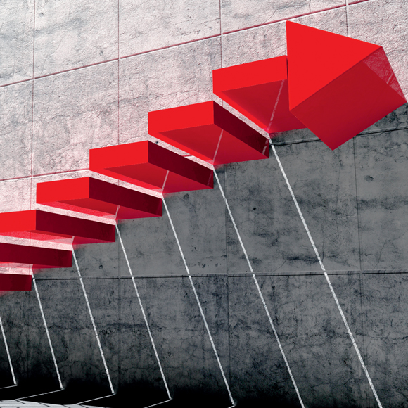 Treppe Pfeil 580x580
