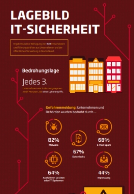 Infografik Lagebild IT-sicherheit